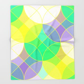 Elegant mosaic tile Throw Blanket by Natalia Bykova | Society6