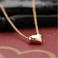 [gryxh31000301]peace symbol heart-shaped necklace