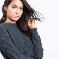 Scallop Cropped Sweater