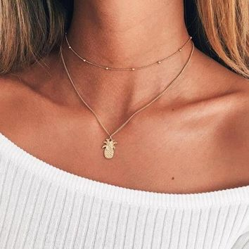 Pineapple Layered Necklace