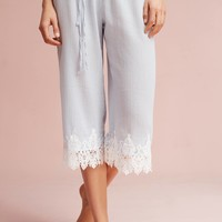 Lace-Trimmed Sleep Pants