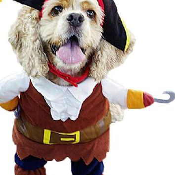Dog Pirate Clothes Costume