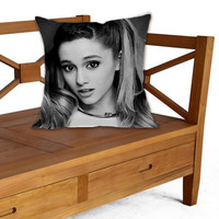 Ariana Grande on Pillow cover by ElegancePerfect