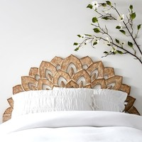 Wood Carved Faux Headboard