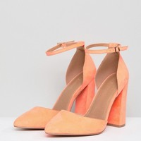 ASOS DESIGN Pebble Extra Wide Fit Pointed High Heels at asos.com