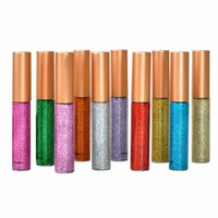 10 Color sparkling eyeliner Makeup Metallic Shiny Smoky Eyes Eyeshadow Waterproof Glitter Liquid Eyeliner