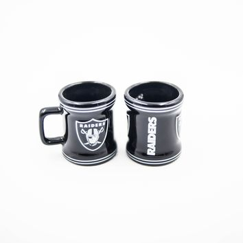 Raiders Stripe Mini Mug Shot Glass
