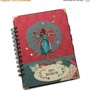 BLACK FRIDAY SALE Sister or Mother Christmas Gift, Personalized Recipe Journal, Turquoise and Hot Pink Recipe Book, Family Recipe Journal, B