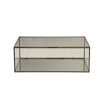 Worlds Away Rectangular Clear Glass Box