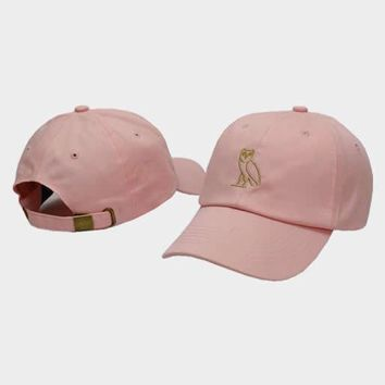 cc auguau OVO Octobers Very Own Owl Pink Hat