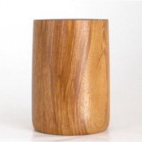 Handcrafted Pencil Cup Turned in Hububalli Wood