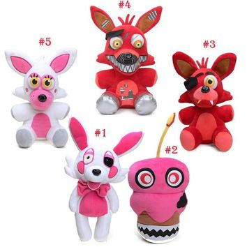 25-30cm  At  Golden Freddy Fazbear Nightmare Cupcake Foxy  Plush Toys  Balloon Boy Clown Stuffed Dolls
