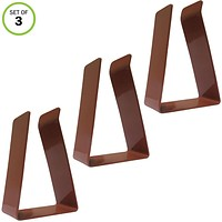 Evelots Metal Replacement Door Clips For Door Draft Stopper, Brown- S/3