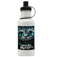 Gift Water Bottles | Cheshire Cat Were All Mad Here Aluminum Water Bottles