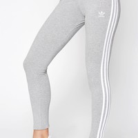 adidas Adicolor Heather Grey 3-Stripes Leggings at PacSun.com