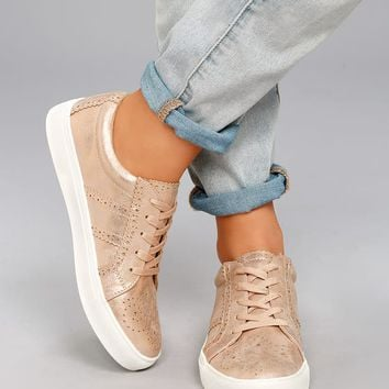 Report Abe Rose Gold Sneakers