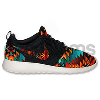 Nike Roshe Run Black Anthracite Tribal Aztec Edition Custom -- FREE SHIPPING