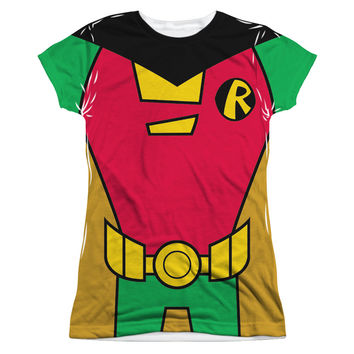 Robin Teen Titans Go! Costume Sublimated Juniors T-Shirt