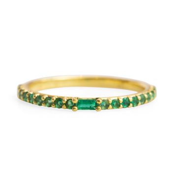 Manava Emerald Ring - Rings - Catbird