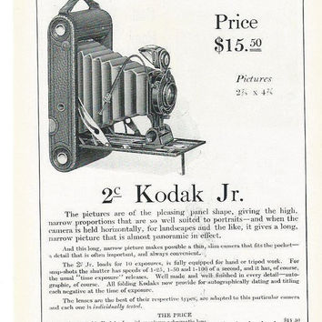 Vintage Kodak Cameras Magaine Ad-Old Advertisements-Ads For Framing-Vintage Art Wall Decor-Photographers Studio Wall Decor-Retro Ad Art