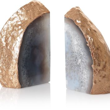 Agate Stone Book Ends - All - Oliver Bonas