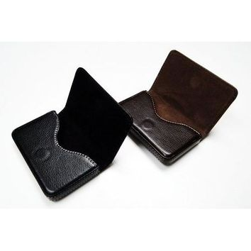 Business Card Holder Genuine Leather Case