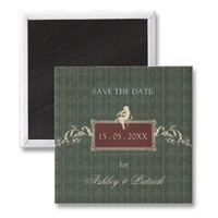 Baroque Save the Date Magnet from Zazzle.com