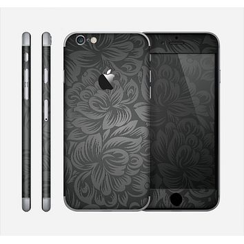 The Black & Gray Dark Lace Floral Skin for the Apple iPhone 6