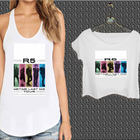 R5 New Shows Coming Soon For Woman Tank Top , Man Tank Top / Crop Shirt, Sexy Shirt,Cropped Shirt,Crop Tshirt Women,Crop Shirt Women S, M, L, XL, 2XL*NP*