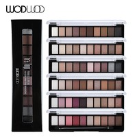 WODWOD Brand Earth Color Eye Shadow Palette Makeup Glitter Matte Shimmer Pigmented Eyeshadow Maquiagem Long Lasting Cosmetic Kit