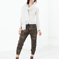 Patched Jogging Pant in Camo