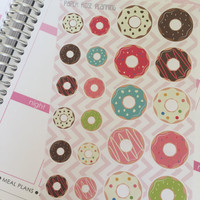 Donut Sticker Sheet for Planner / Erin Condren / Scrapbooking / Calendar / Journal