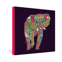 DENY Designs Home Accessories | Sharon Turner Painted Elephant Gallery Wrapped Canvas