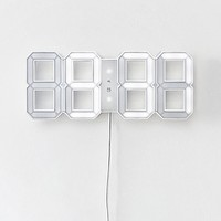 LED Wall Clock - White
