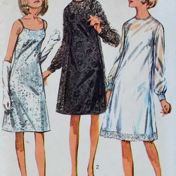Simplicity 6784  // Vintage Womens Slip Dress and Overdress pattern // Evening dress // Cocktail dress