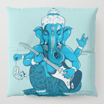 Ganesha rocks ! (v3) Floor Pillow by Savousepate