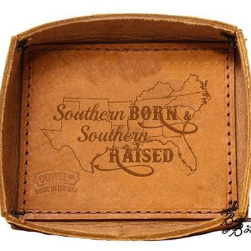 Handcrafted Southern Inspired Leather Key & Change Tray