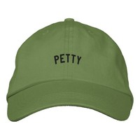 PETTY ADJUSTABLE DAD HATS | pink | black | red