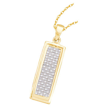 Invisble Diamond Fashion Pendent in 14k Gold 0.5 ctw
