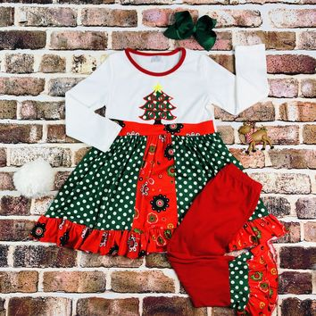 RTS Christmas Tree Polka Dot Set D26