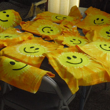 "Tie dye shirts- PLUS SIZES - Smiley Face, Sunshine- Many sizes ready to ship today ""I'm just one happy little ray of sunshine"""