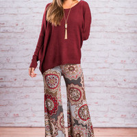 Forever Funky Flare Pants, Olive