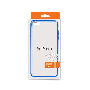 REIKO IPHONE 6 CLEAR BACK FRAME BUMPER CASE IN NAVY