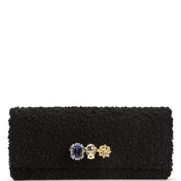 Luxe Leopard Leather Knuckle Ring Clutch by Juicy Couture