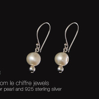 Linda freshwater pearl silver earrings