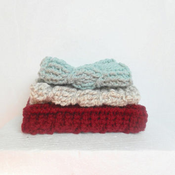 Cabled Coffee Cozy in the Color of Your Choice, Acrylic or Wool, MADE TO ORDER.