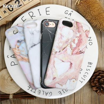 Kerzzil Marble Stone Granite Case For iPhone 6 6S 6Plus 6sPlus Colorful Cover For iPhone 7 6 6S Plus Soft Silicone Phone Back