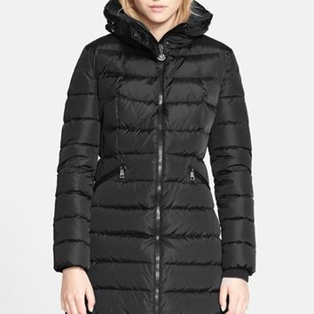 Women's Moncler 'Flammette' Long Hooded Down Coat,