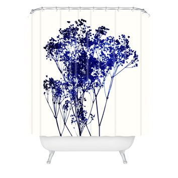 Garima Dhawan Babys Breath Indigo Shower Curtain