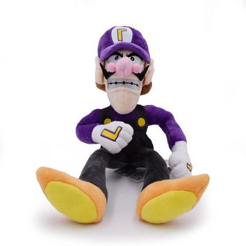 Super Mario party nes switch High Quality 11'' 28cm  Bros Brothers Waluigi Purple Color Peluche Stuffed Soft Plush Toys Dolls Kids Gift,1Pcs Pack AT_80_8